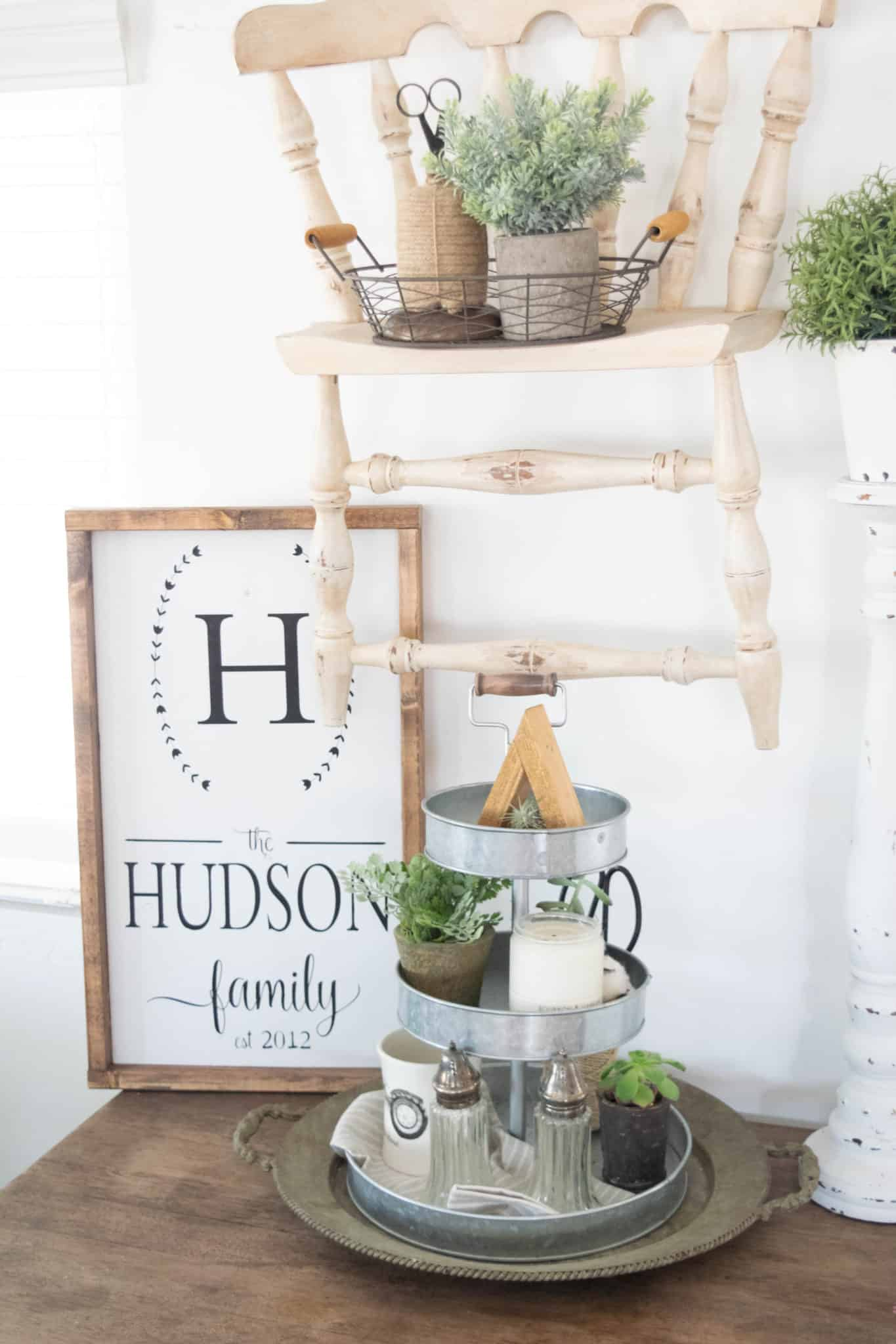 farmhouse style 3 tier stand