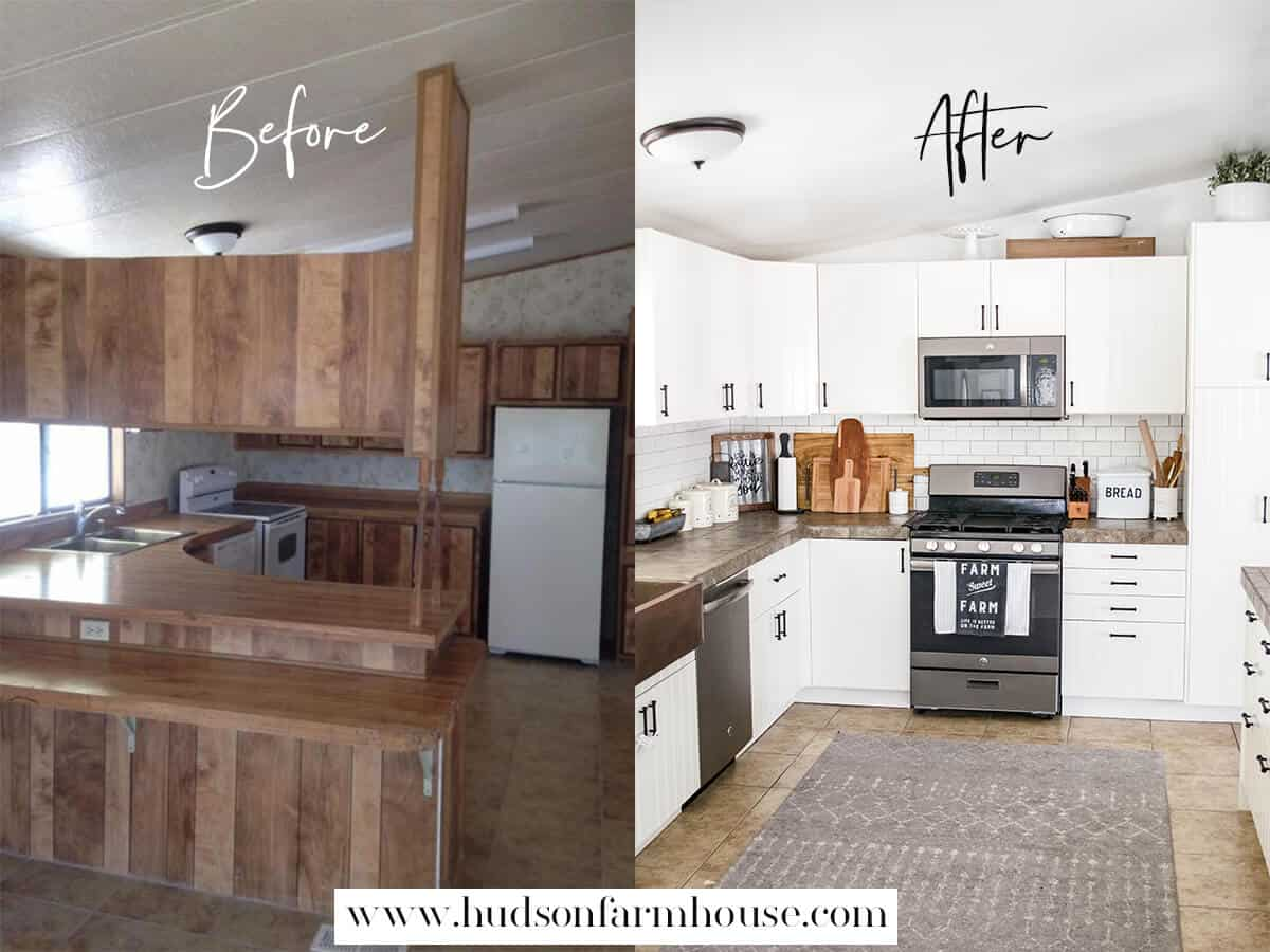 mobile home remodel farmhouse style
