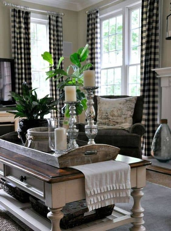 living room farmhouse style