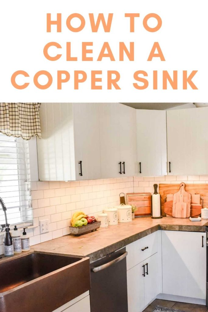 how to clean a pron front sink copper