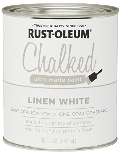 rust oleum chalked paint linen white can