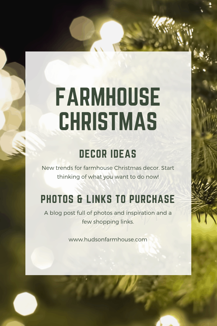 I know it is still early but I want you to start thinking of your farmhouse Christmas decor and how you want to use it. It will give you plenty of time to purchase and have items shipped to your home. You can then use these items to plan the rest of your decor around.