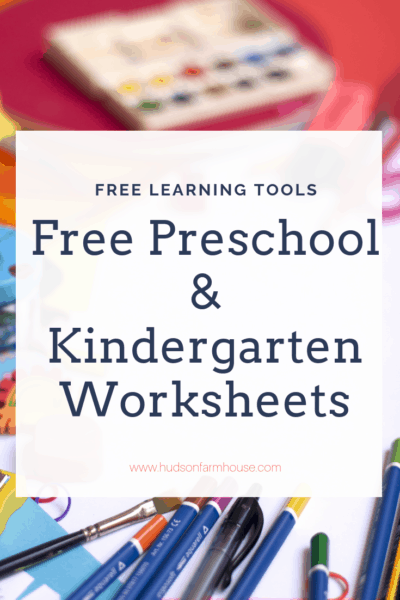 I hope this list of preschool and kindergarten worksheets helps you teach your kids at home. I do not homeschool the children myself but do these on the days the girls are not in school.