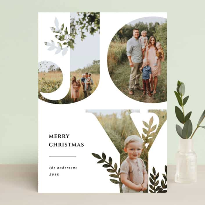 Send out this year's holiday greetings with style. Your special photo will look great in these unique and modern holiday photo cards created for you by Minted's global community of independent designers.