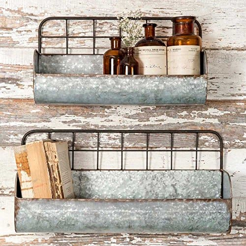 rustic industrial shelves for bathroom from amazon