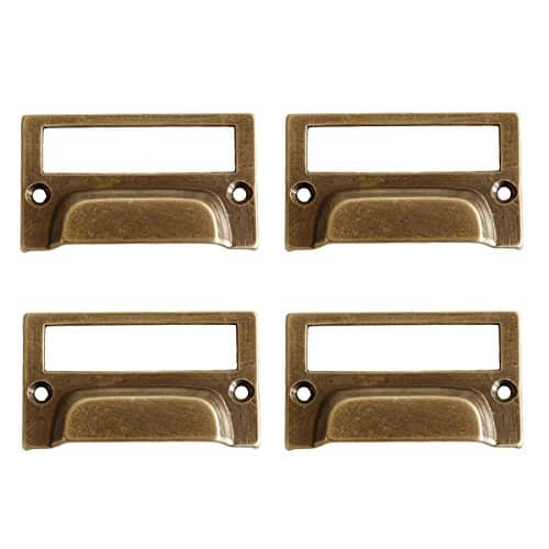 oil rubbed bronze drawer pulls card holder style