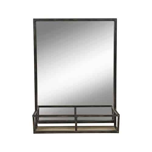 oil rubbed bronze mirror with shelf