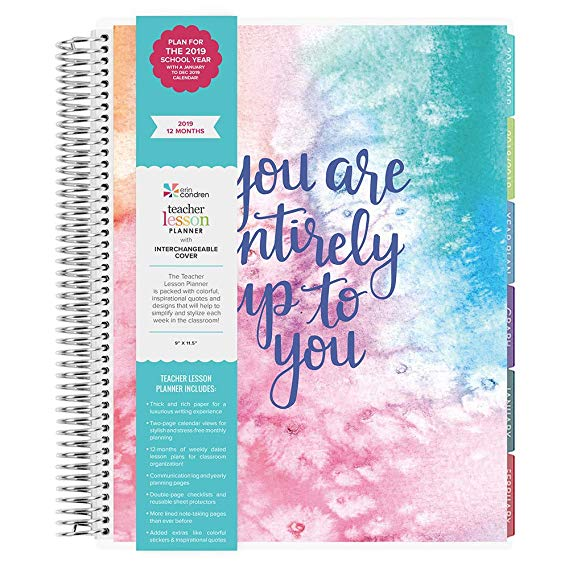 FULL YEAR 2019 PLANNER: A dated January - December 2019 calendar is ideal for lesson planning and getting organized for the year! GOAL SETTING: Dedicated goal-setting pages, a communication log and yearly planning page make this the most premium lesson planner ever! CHECKLISTS: 7 pages of double-sided checklists are ideal for coordinating the chaos of the classroom however you choose! LUXURIOUS: Our rich & thick Mohawk 80# paper ensures an optimum and luxurious planning experience