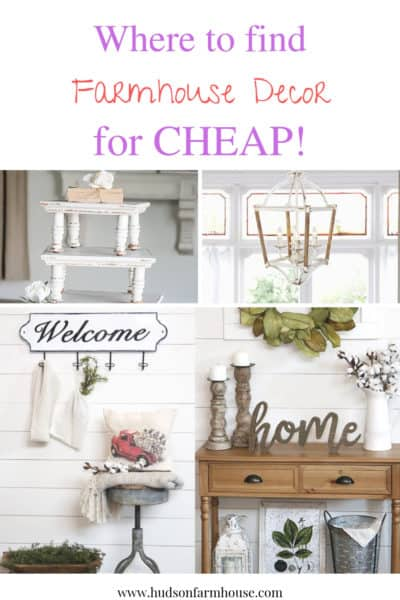 Where to find farmhouse decor cheap! I wanted to share all of my favorite places to buy rustic home decor. If your like me you love to buy decor and lot's of it. I love changing up my home decor often to freshen things up and decorate for the holidays and seasons.