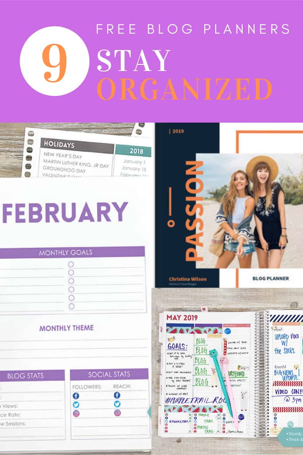 Get organized with these awesome blogging planners