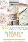 Fun indoor kids activities that encourage creativity and imagination at home. Easy, cheap or free ideas for all ages, toddlers through big kids. Free printable list. Kids activities indoor crafts for the toddler, preschool, elementary and older age boys and girls. Grab some fun, DIY, group learning games and things to do for babysitting or at home.