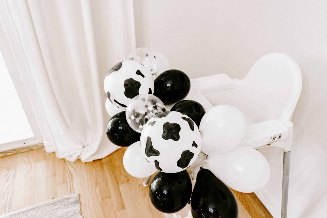 cow party balloons