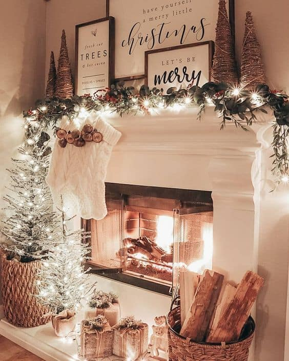 christmas mantle decor