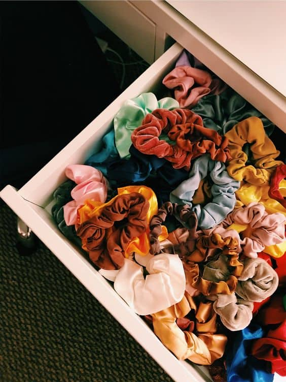 best scrunchie packs in a drawer