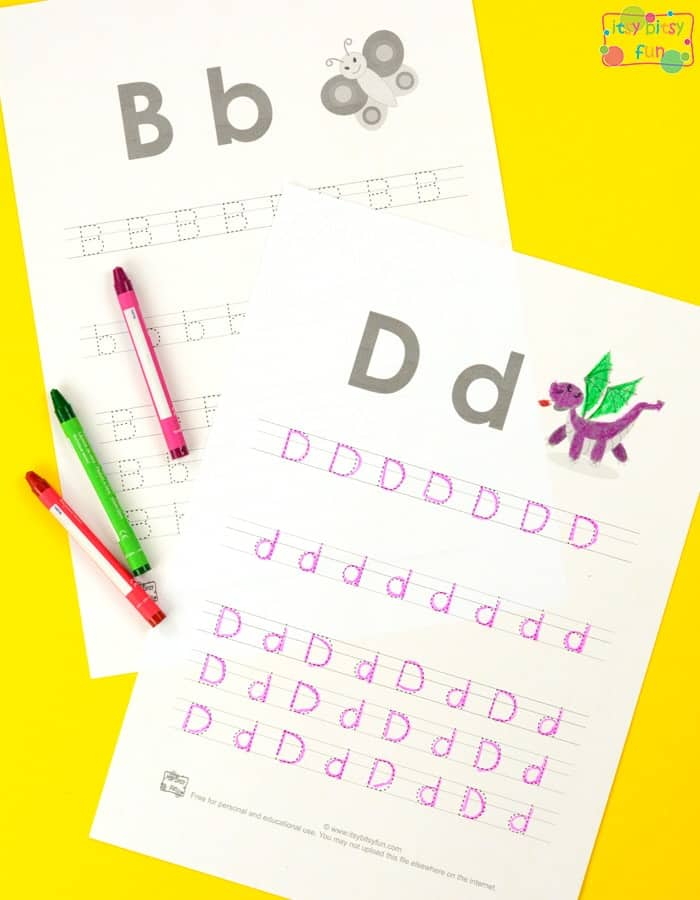 Letter Tracing Worksheets Free - Teach Kids At Home