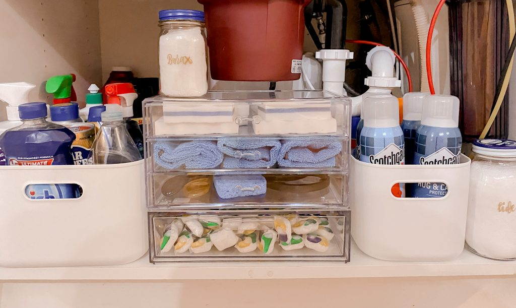 cleaning under the sink is super easy