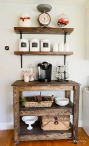 wood coffee bar