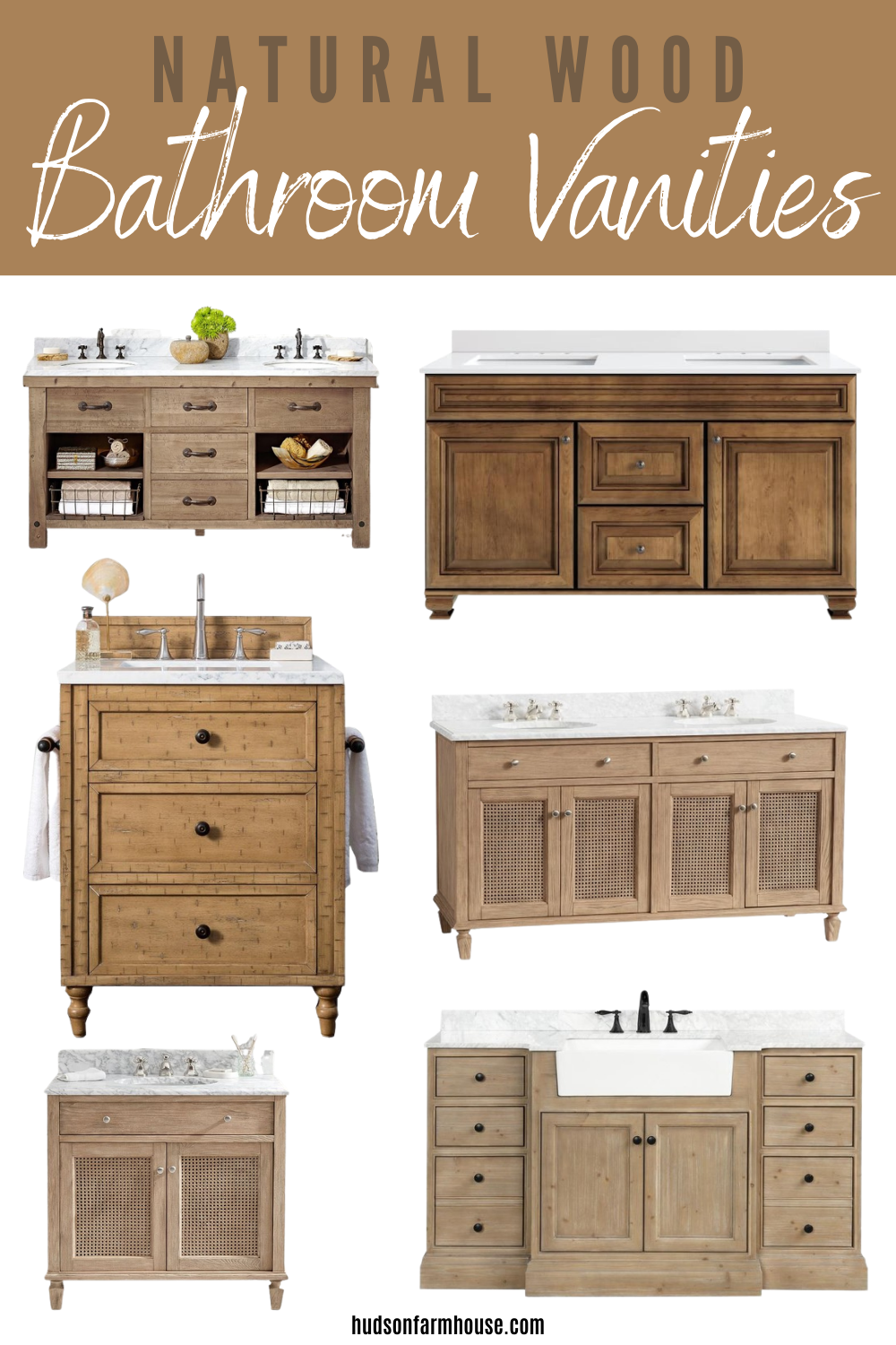 natural wood vanities for bathroom
